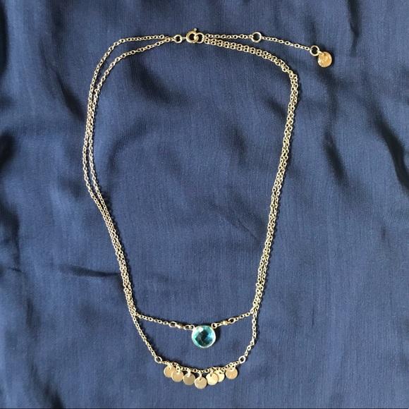 2c9a0340fb LOFT Jewelry   Double Layer Blue Gem Necklace   Poshmark